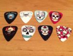 Grover Allman Pack of 8 Skull Guitar Picks Brand New